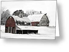 South Dakota Farm Greeting Card by Julie Hamilton