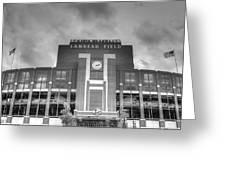 South End Zone Lambeau Field Greeting Card by James Darmawan
