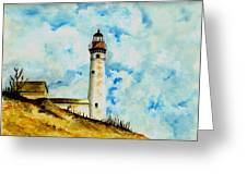 South Manitou Island Lighthouse Greeting Card by Michael Vigliotti