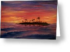 South Pacific Atoll Greeting Card by Jack Skinner
