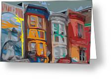 South Street Revisited Greeting Card by Kevin  Sherf