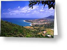 Southeast Coast Of Puerto Rico From Panoramic Route 901 Greeting Card by Thomas R Fletcher