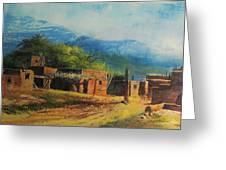 southwest village Greeting Card by robert carver