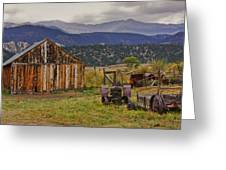 Spanish Peaks Ranch 2 Greeting Card by Charles Warren