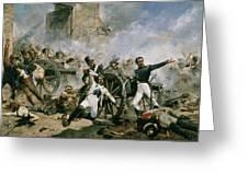 Spanish Uprising Against Napoleon In Spain Greeting Card by Joaquin Sorolla y Bastida