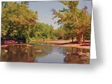 Spavinaw Creek Greeting Card by Jeff Kolker
