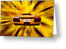 Speed Greeting Card by Sharon Lisa Clarke