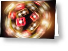 Sphere Of Light Greeting Card by Wim Lanclus