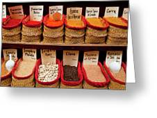 Spices  Greeting Card by Harry Spitz