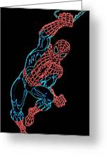 Spider Man Greeting Card by DB Artist