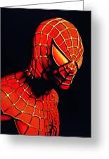 Spiderman Greeting Card by Paul Meijering