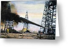 Spindletop Oil Pool, C1906 Greeting Card by Granger