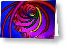 Spiral 216 Greeting Card by Rolf Bertram