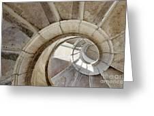 spiral stairway Greeting Card by Carlos Caetano