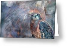 Spirit Of The Hawk Greeting Card by Carol Cavalaris