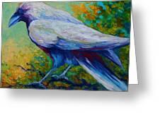 Spirit Raven Greeting Card by Marion Rose
