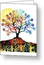 Spiritual Art - Tree Of Life Greeting Card by Sharon Cummings