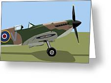 Spitfire WW2 Fighter Greeting Card by Michael Tompsett