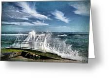 Splash Happy Greeting Card by Kym Clarke