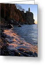 Split Rock Lighthouse At Dawn Greeting Card by Larry Ricker
