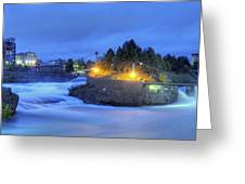 Spokane Falls Greeting Card by Michael Gass