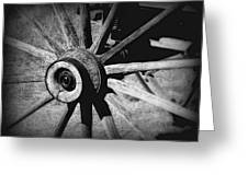 Spoked Wheel Greeting Card by Perry Webster