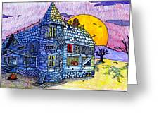Spooky House Greeting Card by Jame Hayes