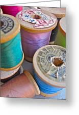 Spools Of Thread Greeting Card by Gwyn Newcombe