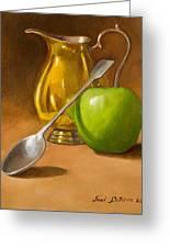 Spoon And Creamer Greeting Card by Joni Dipirro
