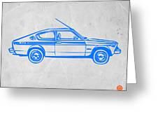 Sports Car Greeting Card by Naxart Studio