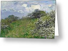 Spring Greeting Card by Claude Monet
