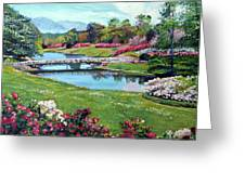 Spring Flower Park Greeting Card by David Lloyd Glover