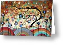 Spring Flowers Original Painting Madart Greeting Card by Megan Duncanson
