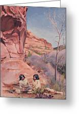 Spring On The Escalante Greeting Card by Lester Nielsen