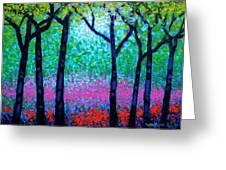 Spring Woodland Greeting Card by John  Nolan