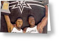 SPURS Greeting Card by MICHAEL PASKO