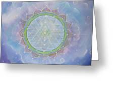 Sri Yantra Greeting Card by Sundara Fawn