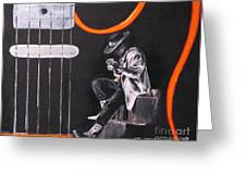 Srv - Stevie Ray Vaughn Greeting Card by Eric Dee