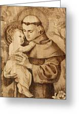 St. Anthony Greeting Card by Conrad  Pinto