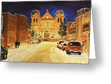 St. Francis Cathedral Basilica  Greeting Card by Gary Kim