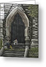 St Georges Parishioners Greeting Card by Reb Frost
