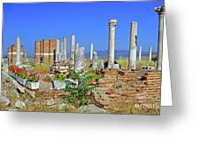 St John Basilica Ruins Greeting Card by Rich Walter