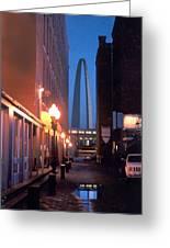 St. Louis Arch Greeting Card by Steve Karol