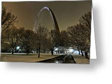 St. Louis - Winter At The Arch 002 Greeting Card by Lance Vaughn
