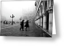 St Mark's Square Greeting Card by Marion Galt