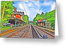St. Martins Train Station Greeting Card by Bill Cannon