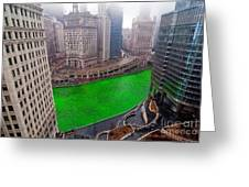 St Patrick's Day Chicago  Greeting Card by Jeff Lewis
