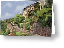 St Paul De Vence Greeting Card by Guido Borelli
