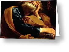 St Peter Greeting Card by Pompeo Girolamo Batoni