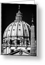 St. Peters Cupola Greeting Card by John Rizzuto